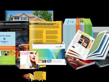 Разработка и производство полиграфических материалов (буклеты, лифлеты, визитки)